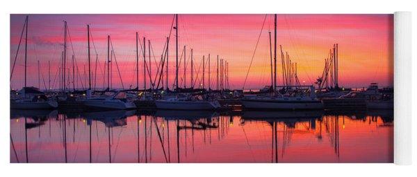 Bayfield Wisconsin Magical Morning Sunrise Yoga Mat