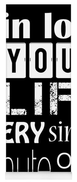 Be In Love With Life Yoga Mat