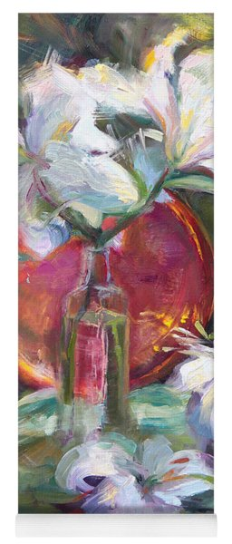 Be Still - Casablanca Lilies With Copper Yoga Mat