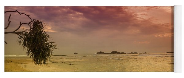 Beach And Sunset Yoga Mat