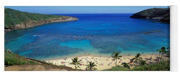 Beach At Hanauma Bay Oahu Hawaii Usa Yoga Mat