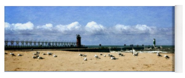Beach At South Haven  Yoga Mat