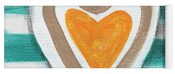Beach Glass Hearts Yoga Mat