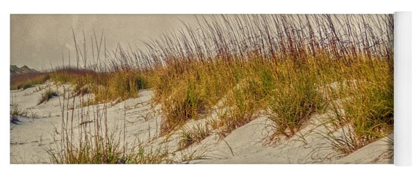 Yoga Mat featuring the photograph Beach Grass And Sugar Sand by Judy Hall-Folde
