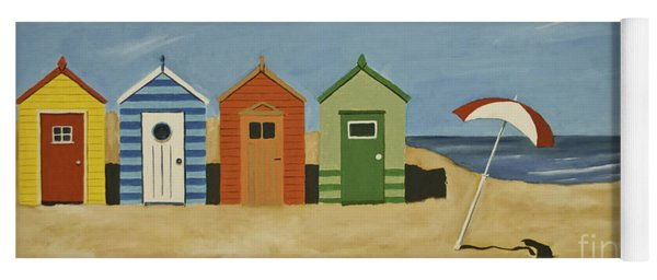 Beach Huts Yoga Mat