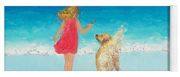 Beach Painting 'sunkissed Hair'  Yoga Mat