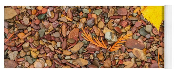 Beach Pebbles Of Montana Yoga Mat