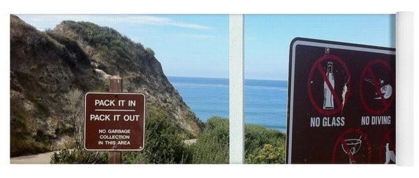 Beach Signs San Clemente Yoga Mat