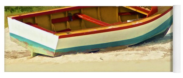 Beached Fishing Boat Of The Caribbean Yoga Mat
