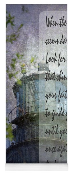 Yoga Mat featuring the photograph Beacon Of Hope Inspiration by Judy Hall-Folde