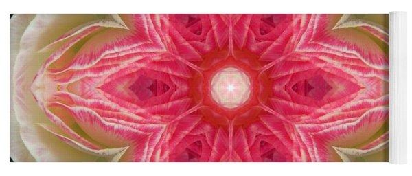 Beacon Of Light Rose Mandala Yoga Mat