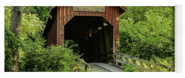 Bean Blossom Covered Bridge Yoga Mat