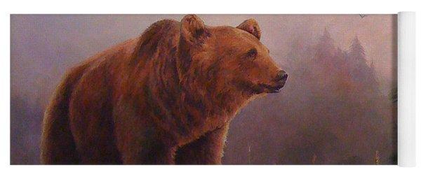Bear In The Mist Yoga Mat