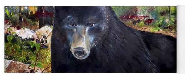 Bear Painting - Blackberry Patch - Wildlife Yoga Mat