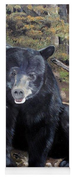 Yoga Mat featuring the painting Bear - Wildlife Art - Ursus Americanus by Jan Dappen