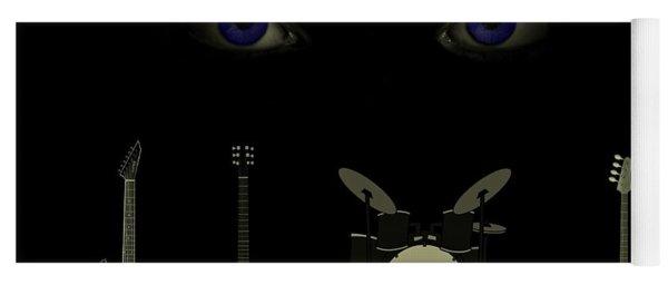Yoga Mat featuring the digital art Beatles Something by David Dehner