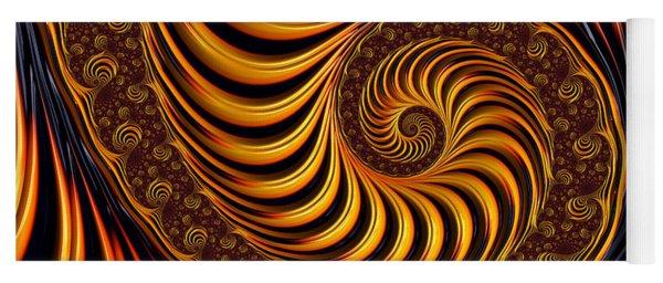Beautiful Golden Fractal Spiral Artwork  Yoga Mat