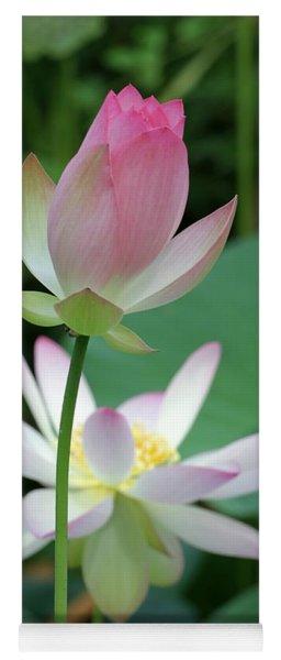 Beautiful Lotus Blooming Yoga Mat