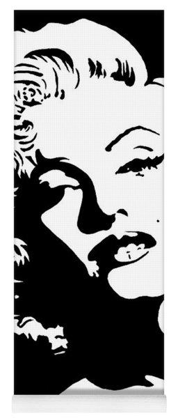 Beautiful Marilyn Monroe Original Acrylic Painting Yoga Mat
