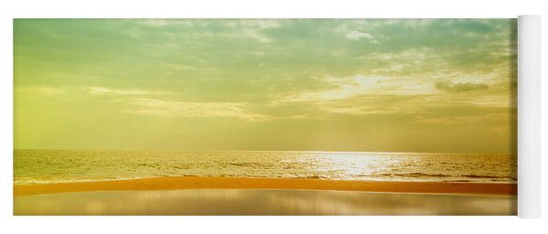 Beautiful Sunset At The Hikkaduwa Beach Yoga Mat