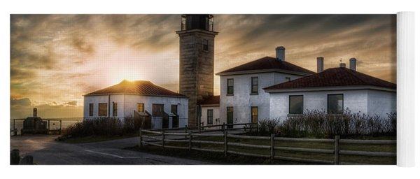 Beavertail Lighthouse Sunset Yoga Mat