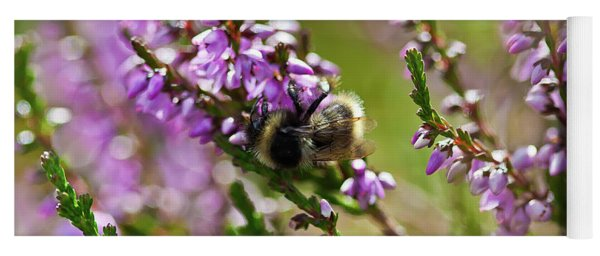 Bee On Heather Yoga Mat