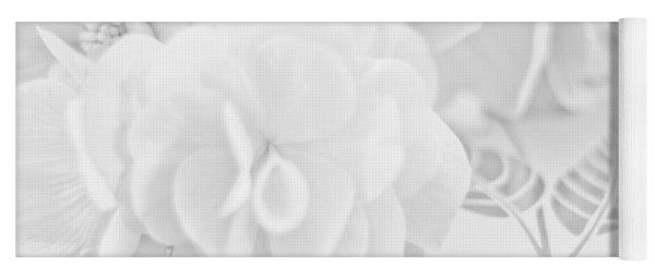 Begonias On Tray - Monochrome Yoga Mat