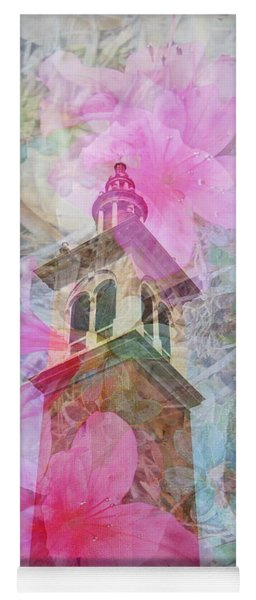 Bell Tower Wrapped In Spring Yoga Mat