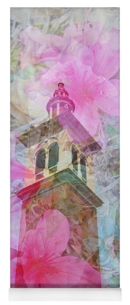 Yoga Mat featuring the photograph Bell Tower Wrapped In Spring by Judy Hall-Folde