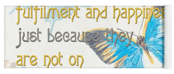 Bella Butterflies 2 Yoga Mat