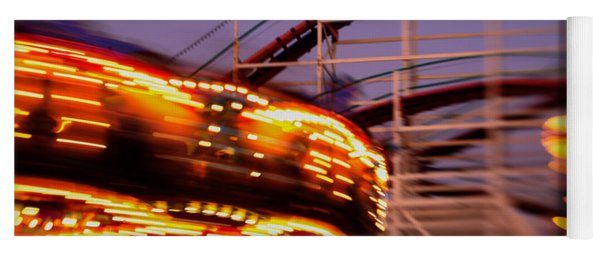 Did I Dream It Belmont Park Rollercoaster Yoga Mat