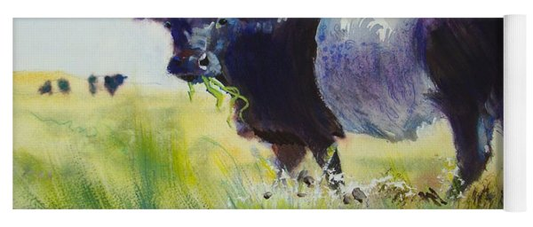 Belted Galloway Cow Yoga Mat
