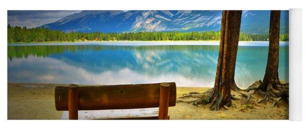 Bench View At Lake Edith Yoga Mat