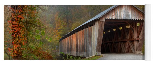 Bennett Mill Covered Bridge Yoga Mat