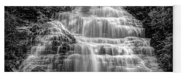 Benton Falls In Black And White Yoga Mat