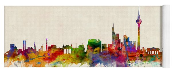 Berlin City Skyline Yoga Mat