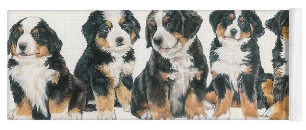 Bernese Mountain Dog Puppies Yoga Mat