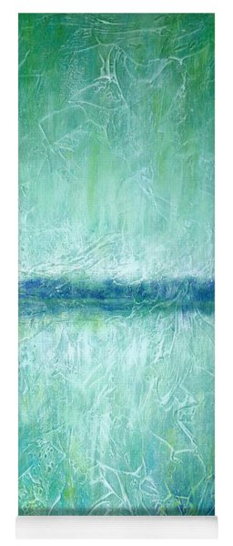 Between The Sea And Sky - Green Seascape Yoga Mat
