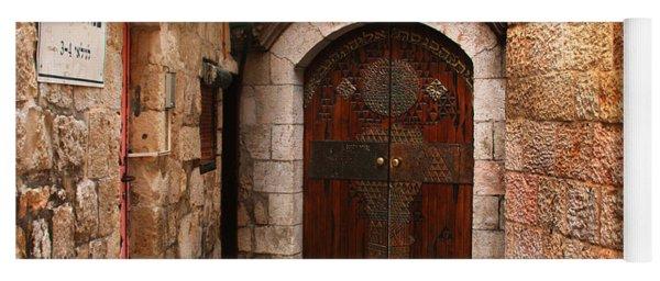 Door In Jerusalem Yoga Mat