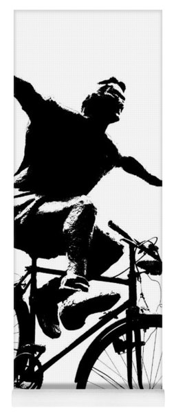 Bicycle - Black And White Pixels Yoga Mat