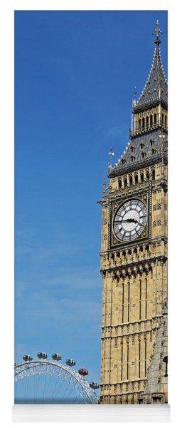 Big Ben And London Eye Yoga Mat