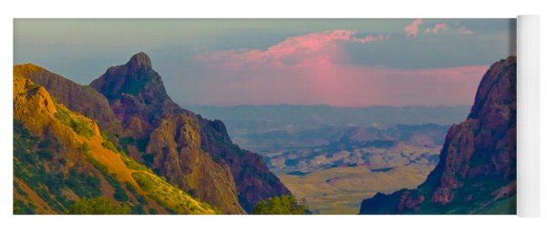 Big Bend Texas From The Chisos Mountain Lodge Yoga Mat