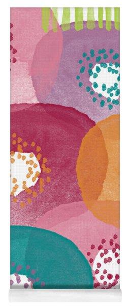 Big Garden Blooms- Abstract Florwer Art Yoga Mat