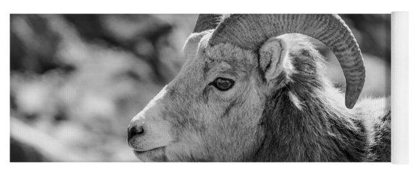 Big Horn Sheep Profile Yoga Mat
