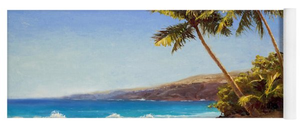 Hawaiian Beach Seascape - Big Island Getaway  Yoga Mat