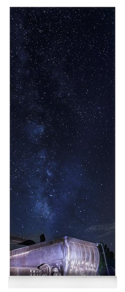 Big Muskie Bucket Milky Way And A Shooting Star Yoga Mat