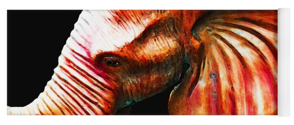 Big Red - Elephant Art Painting Yoga Mat