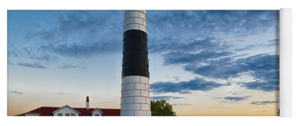 Yoga Mat featuring the photograph Big Sable Point Lighthouse Sunset by Sebastian Musial