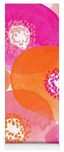 Big Spring Flowers- Contemporary Watercolor Painting Yoga Mat