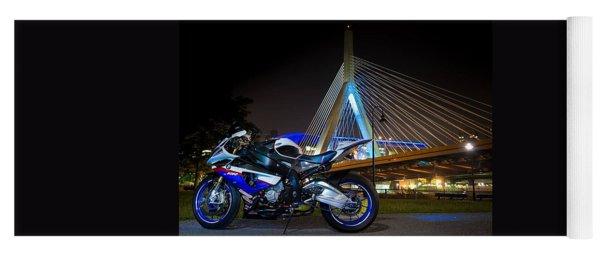 Bike And Bridge Yoga Mat